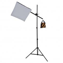 Iluminador day light 200ws modelo razy light 50 x 50cm luz superior com girafa