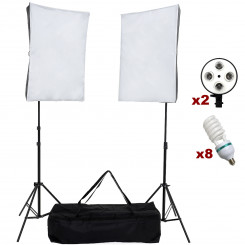 Kit luz continua softlight 50x70 para foto produto, filmagens, família e newborn