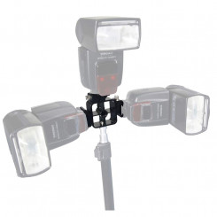 Adaptador para 3 flashes dedicado e encaixe para sombrinha