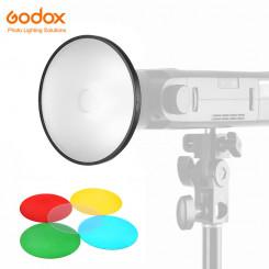 GODOX AD-M refletor com difusor e Filtros para Witstro Flash AD200 AD180 AD360 AD360II