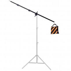 Kit braço multifuncional, funciona como girafa ao ser acoplado em tripé ou manopla telescópica